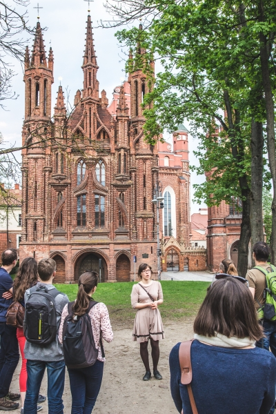 The highlights of Vilnius Gothic architecture, included in Free Vilnius Old Town tour.