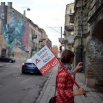 One of street art walls of Vilnius included into Vilnius Alternative tour