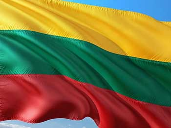 Lithunian flag raised on 16th of February, the independence day.