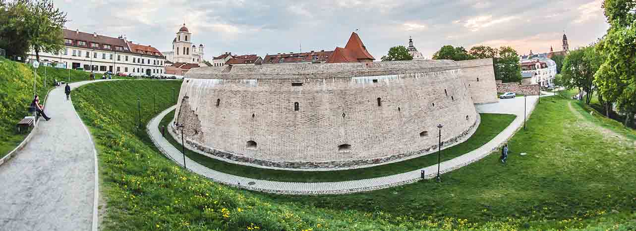 Part of Vilnius Free Walking Tour - the Bastion of Vilnius with beautiful panoramic views
