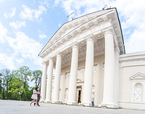 A picture from a private old town tour Vilnius